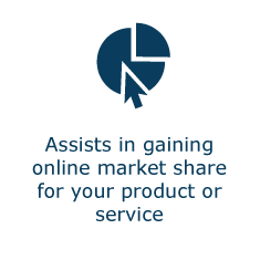 Assists in gaining online market share for your product or service